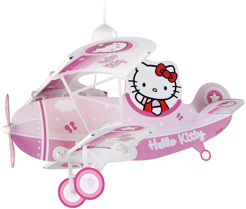 Dalber 54252 Hängeleuchte Flugzeug Hello Kitty Kinderzimmer Lampe ...