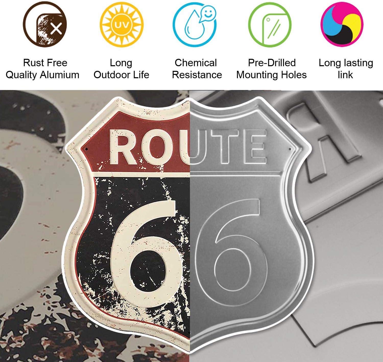 Amazon.com: SUDAGEN Route 66 - Cartel de chapa de metal para ...