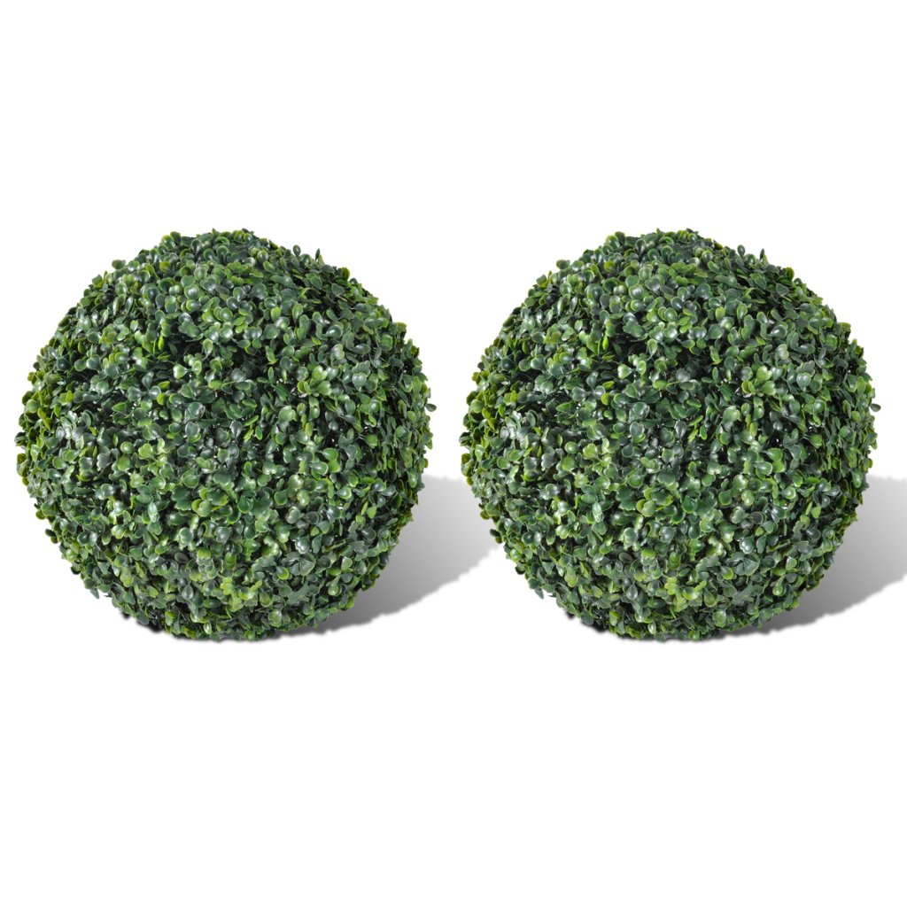 Anself Boxwood Ball Artificial Leaf Topiary Ball 27 cm Set of 2
