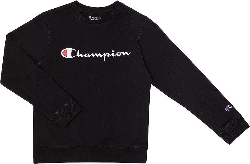 Champion Unisex Heritage Boy and Girls Fleece Pullover Scipt Sweatshirt