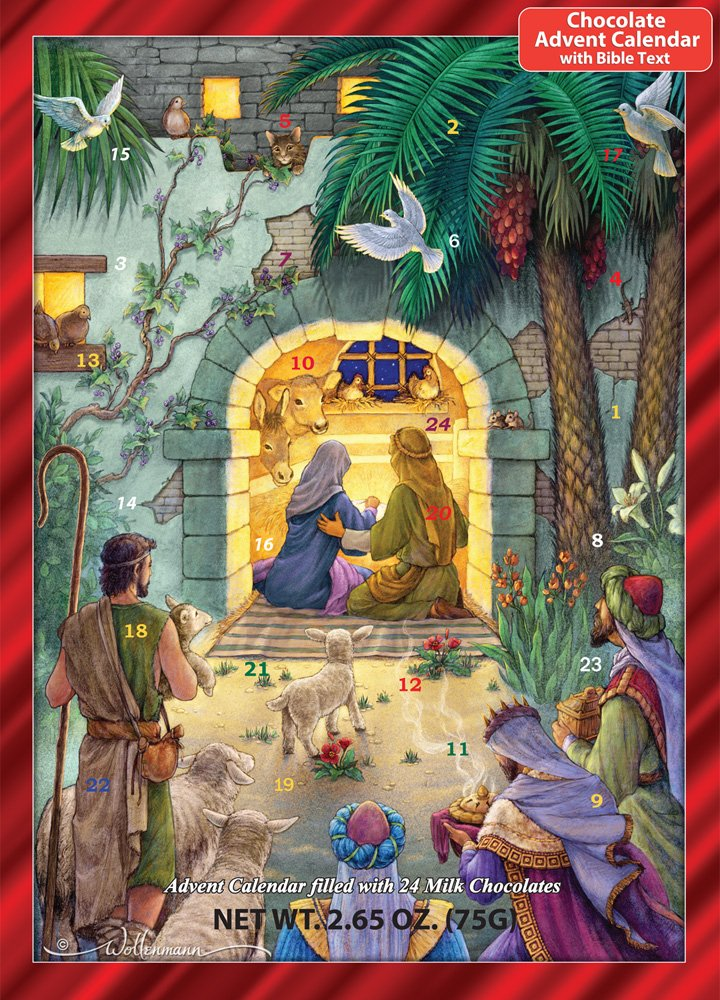Vermont Christmas Company Peaceful Nativity Chocolate Advent Calendar