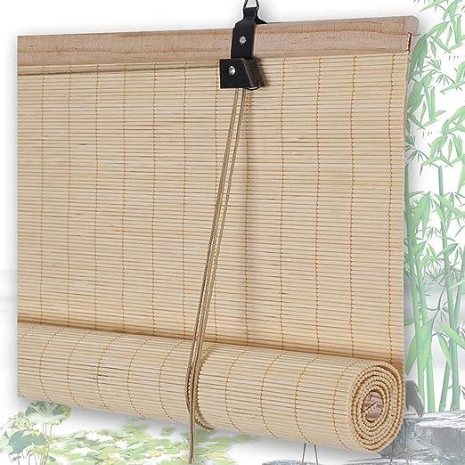 Estores De Bambú Persianas QIANDA Protección Privacidad Venecianas ...