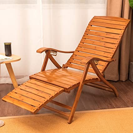 Lounge Chairs ZHIRONG Adjustable Casual Recliners Type S Bamboo Rocking  Chair Old Man Siesta Chair Lazy