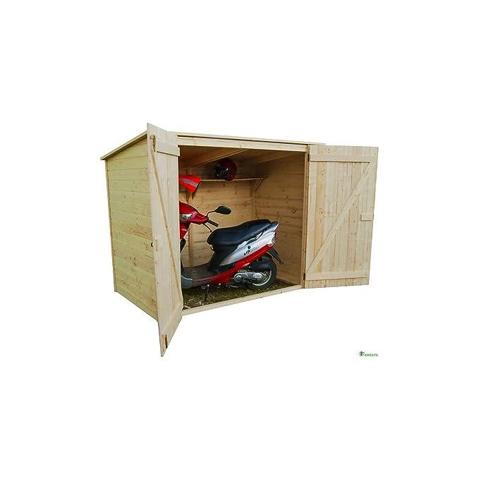 Foresta - Caseta para bicicleta, ED2012.01, 200 x 120 x 162 cm: Amazon.es: Jardín