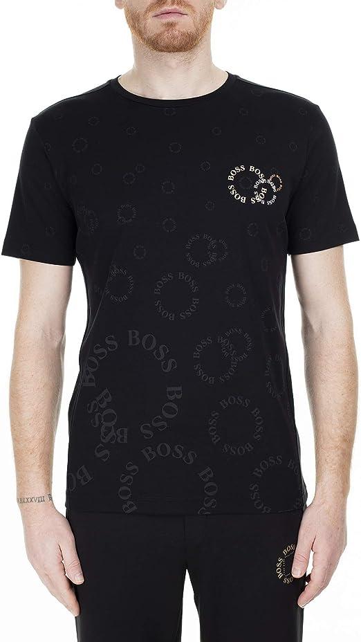 Hugo Boss 10-50425689 Camiseta regular de algodón con logotipo metálico: Amazon.es: Ropa y accesorios