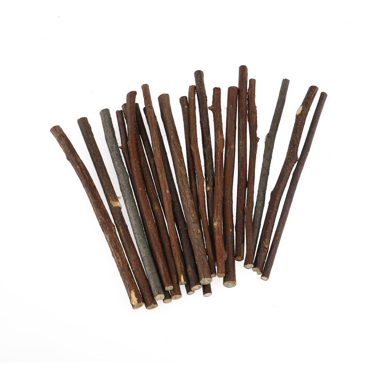 100pcs 5 Inch Long 0.1-0.2 Inch in Diameter Wood Log Sticks for Crafts Photo Props By HANBEN
