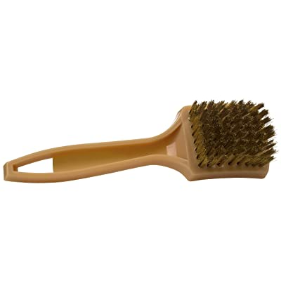 """Stephanie Imports Made in USA 8"""" Brass White Wall, Tire Brush & Paint Stripper: Automotive"""