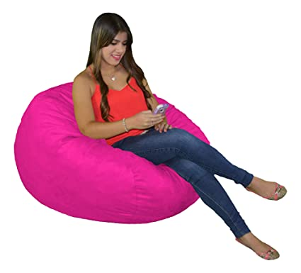 Tremendous Cozy Sack Sm Cbb Hotpink Small Cozy Foam Bean Bag Chair Hotpink Gmtry Best Dining Table And Chair Ideas Images Gmtryco