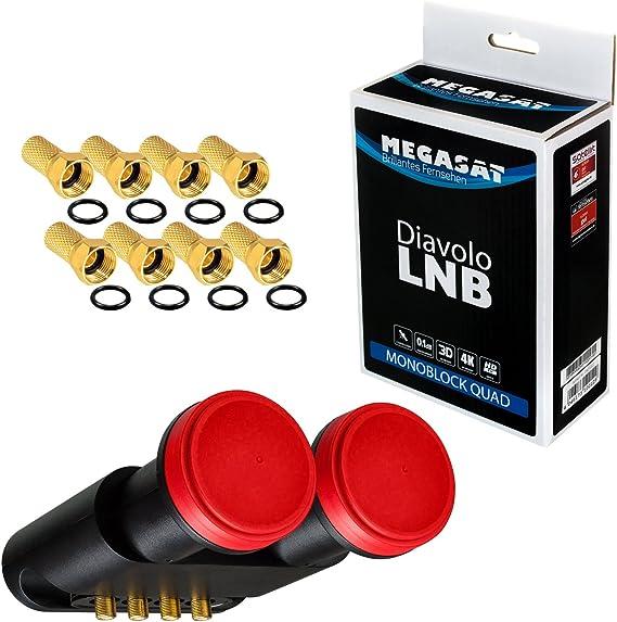 HB-DIGITAL LNB 0.1dB Lnc Set 4 participantes directos 2 ...