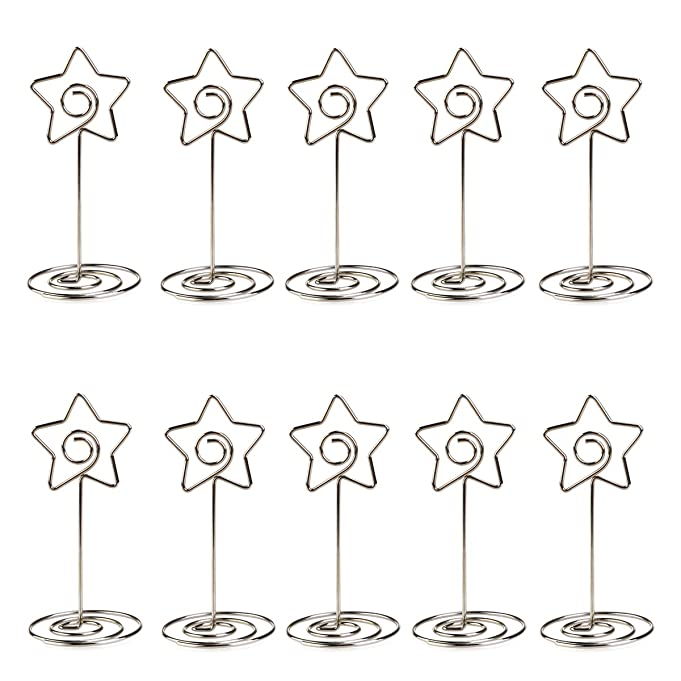 Amazon.com: ULTNICE 10pcs Metal Star Table Number Photo Holder Stands for Weddings Party Gatherings: Home & Kitchen