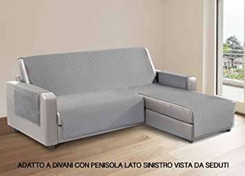 CapitanCasa Funda de sofá para sofás con Chaise Longue Lado ...