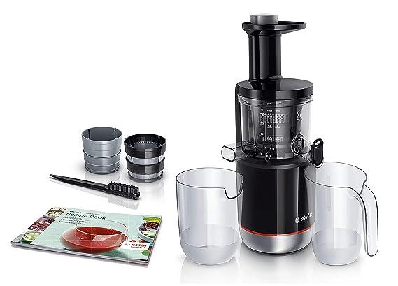 Bosch Slow Juicer MESM731M VitaExtract - Extractor de jugos, 150 W, 3 filtros, 50 RPM, con tecnología de prensado lento, con función antigoteo y ...