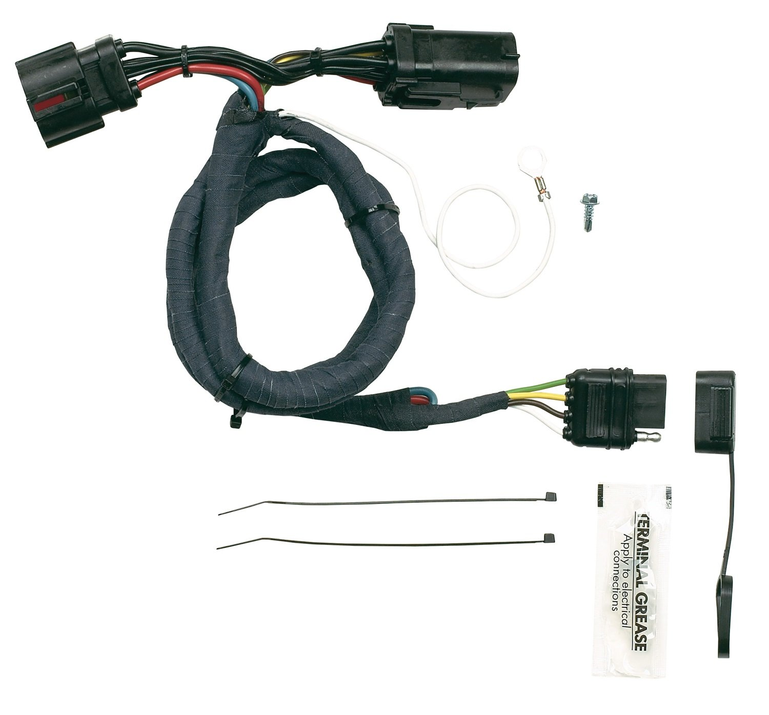 Hopkins 40145 Plug In Simple Vehicle Wiring Kit Automotive 6 Pin Square Camper Harness