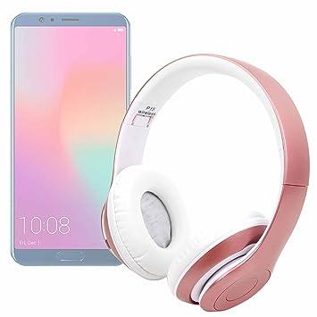 DURAGADGET Auriculares Plegables inalámbricos en Color Rosa para Smartphone Huawei Honor 10/LG V35 ThinQ: Amazon.es: Electrónica