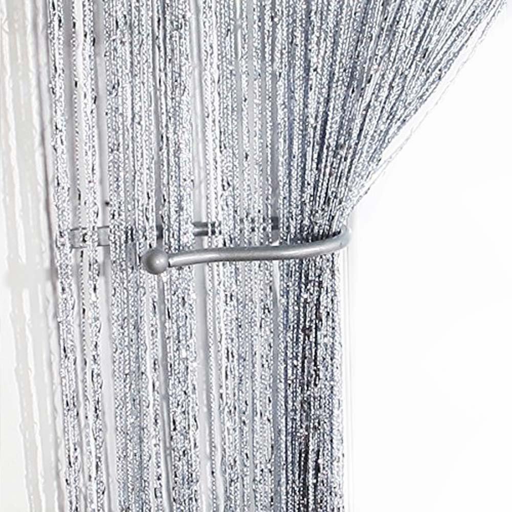 AIZESI Panneau de Rideau de Ficelle, Tissu Mélangé de Polyester, Champagne comme Décoration Saisonnière de Fête 90cm x 200cm