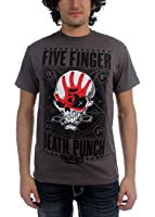 Five Finger Death Punch - Mens Punchagram T-Shirt in Gray