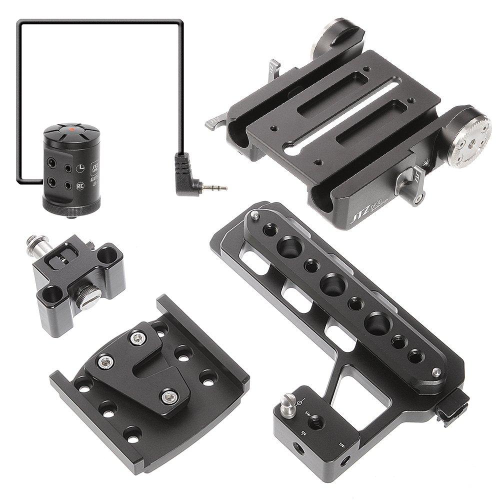 Jtz dp30 15 mmスタンドベースプレートクランプとjtzlinkハブアダプタjla-1 for Blackmagic URSA Mini 4 K 4.6 K EF PL映画カメラ   B07B26N59G