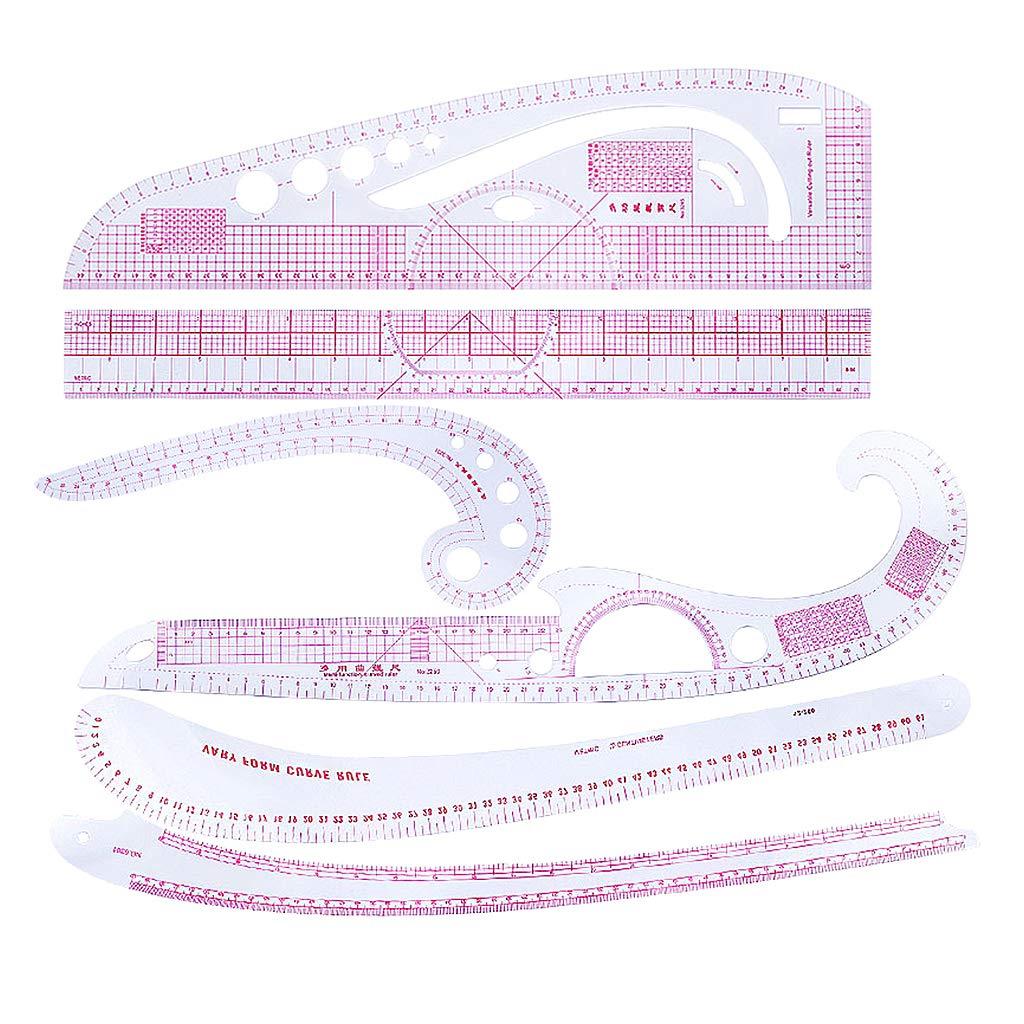 perfk 6 Stü ck/Set Kunststoff French Curve Lineale Zeichnung Vorlagen Curved Franzö sische Kurve kurvenlineal