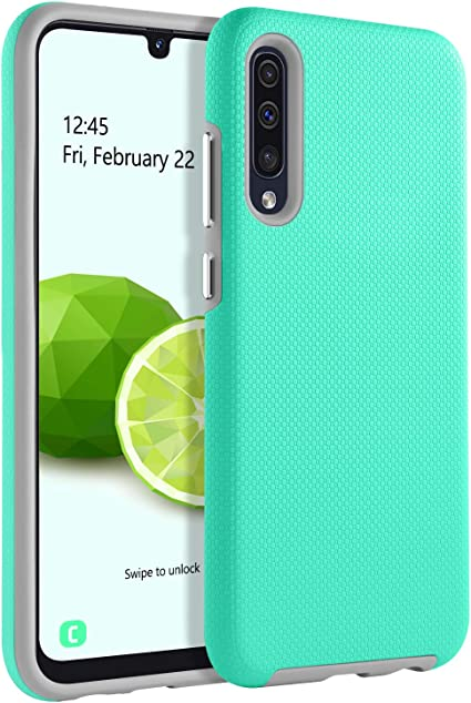 GUAGUA Coque Samsung Galaxy A50 Coque Samsung A50 Coque Samsung A50 Coque de téléphone 2 en 1 hybride rigide TPU Coque de protection antichoc ...