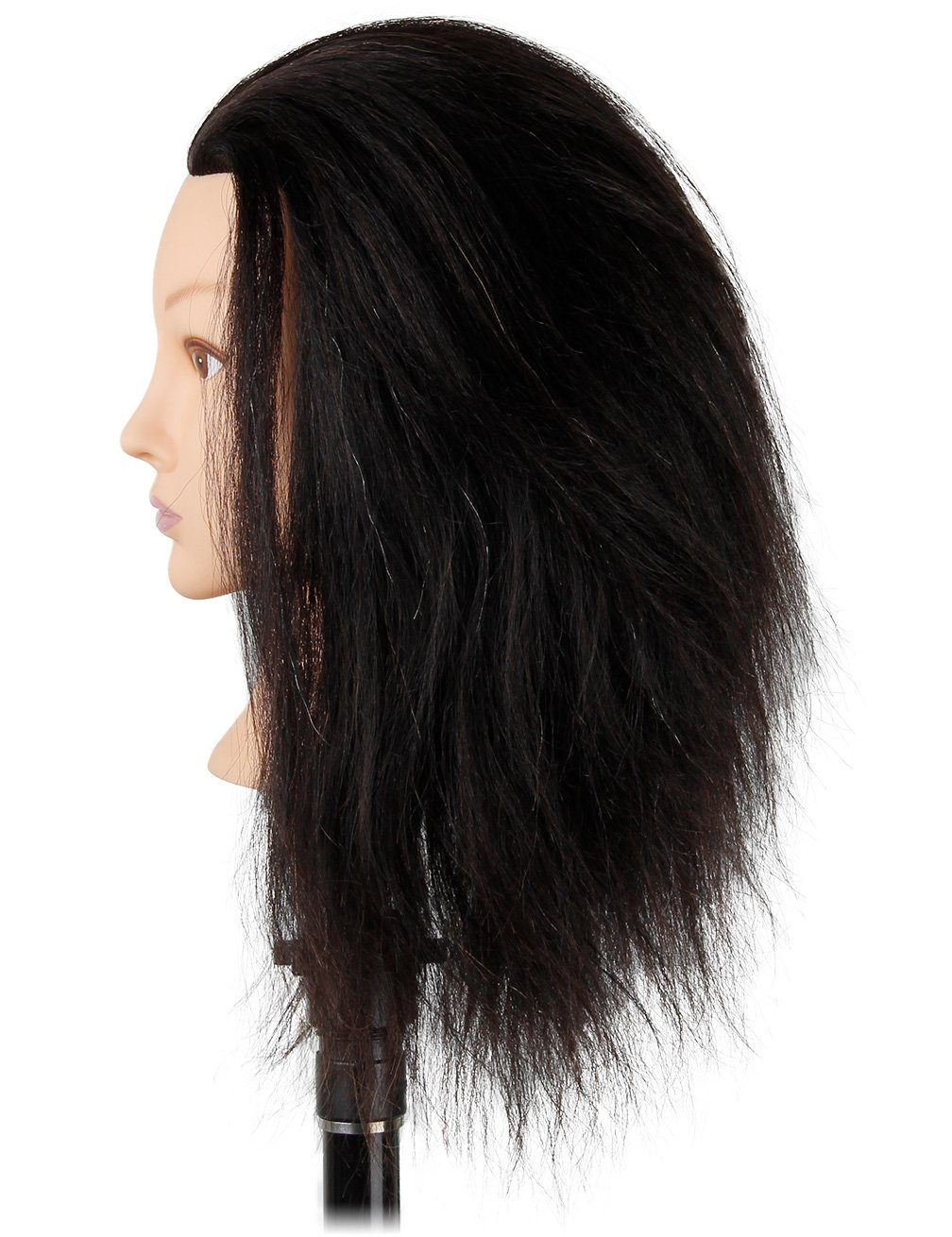 c97388a09f377 Cosmetology Afro Mannequin Head with Hair for Braiding Cornrow or Practice  Sew in on Hair Doll Head Manikins Kalyx Beauty Collection