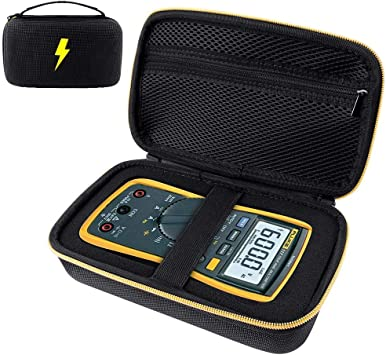 RLSOCO Hard Carrying case for Auto-Ranging Digital Multimeter Neoteck 6000 Counts//BM235// Tacklife DM01M//Fluke 101//Fluke 115//116//117//113//114//F15B+//F17B+//F18B Digital Multimeter and More