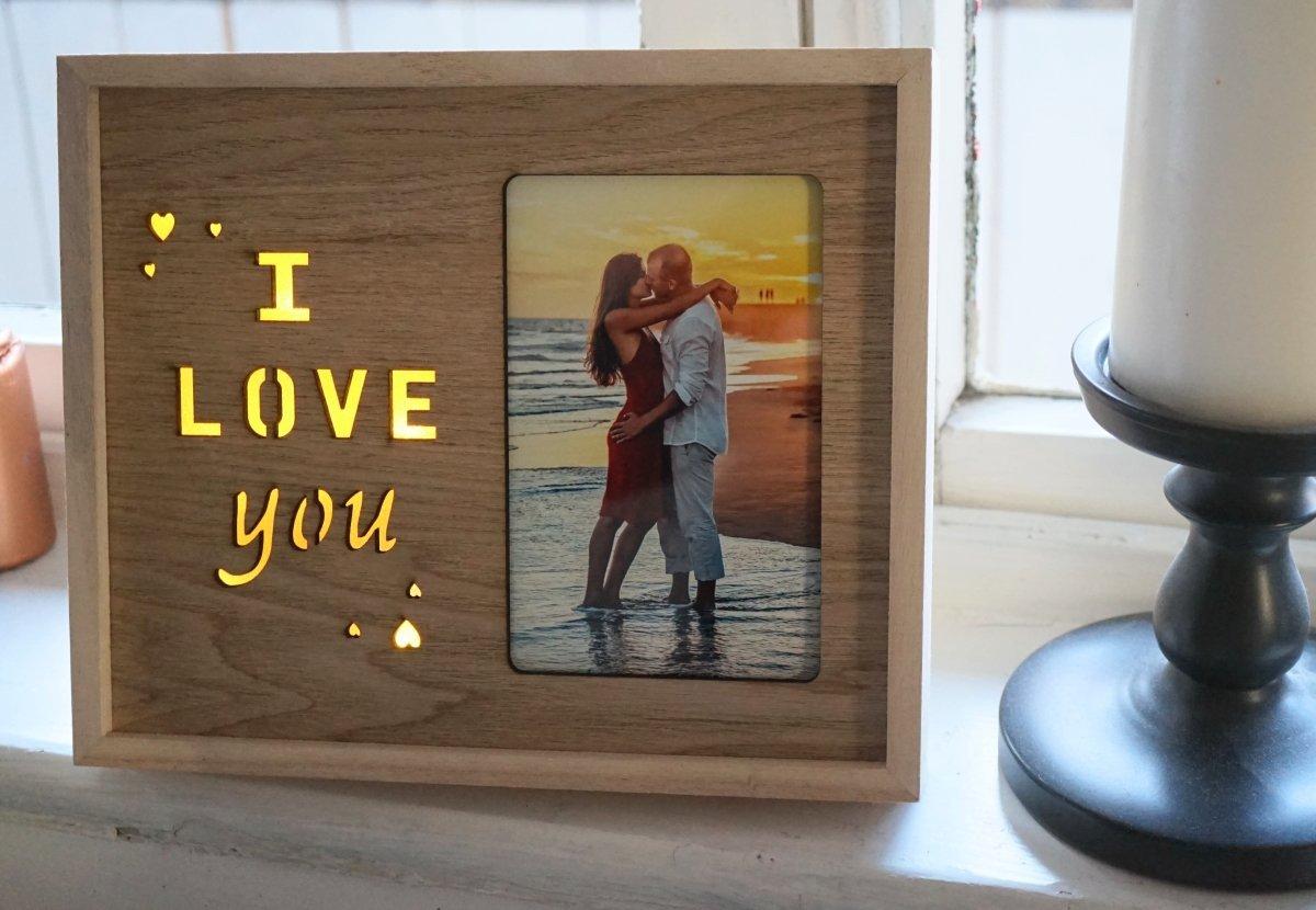 Finia Bilderrahmen I Love You aus Holz | Ich Liebe Dich mit Kleinen ...