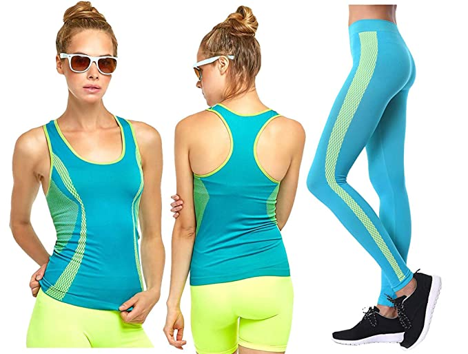 check out colours and striking hot-selling clearance Workout Clothes Womens 2 Piece Set - Yoga Activewear Outfit Exercise Full  Set