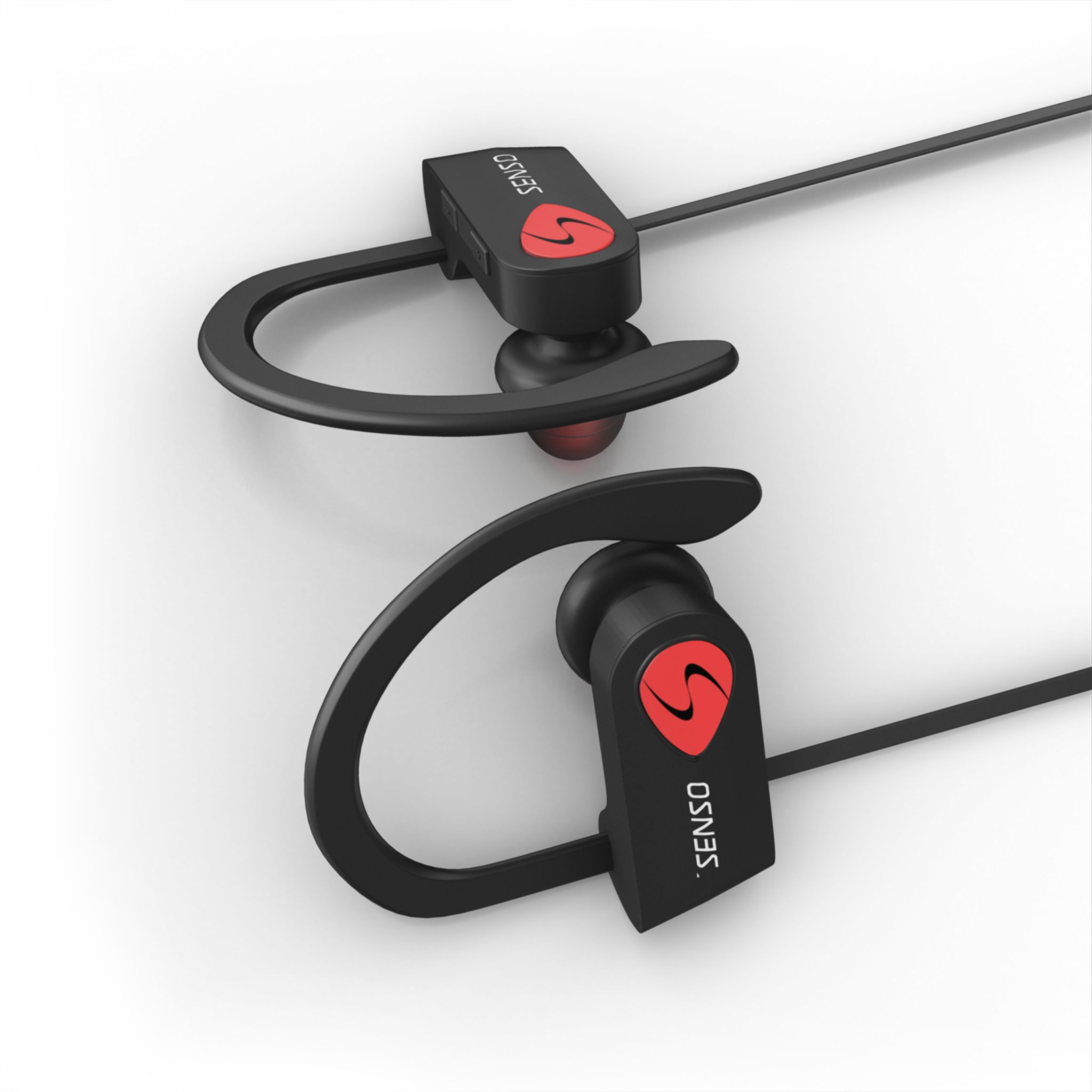 SENSO Bluetooth Headphones, Best Wireless Sports Earphones w/Mic IPX7 Waterproof HD Stereo Sweatproof Earbuds for Gym Running Workout 8 Hour Battery Noise Cancelling Headsets by Senso (Image #6)