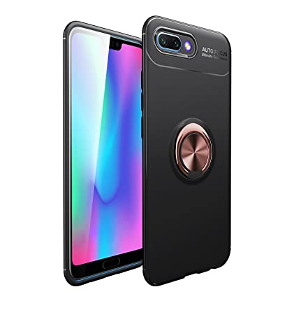 Anfire Funda Huawei Honor 10, Carcasa Anillo Soporte Rotación de 360 Grados Suave Silicona Gel TPU Case Función Magnética Flexible Cover para Huawei ...