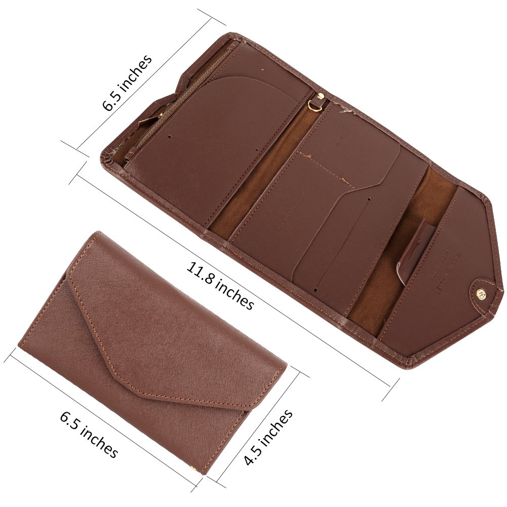 Rlihana Leather Passport Holder Passport Holder Wallet Cover Case Travel Organizer RFID Blocking Travel Wallet