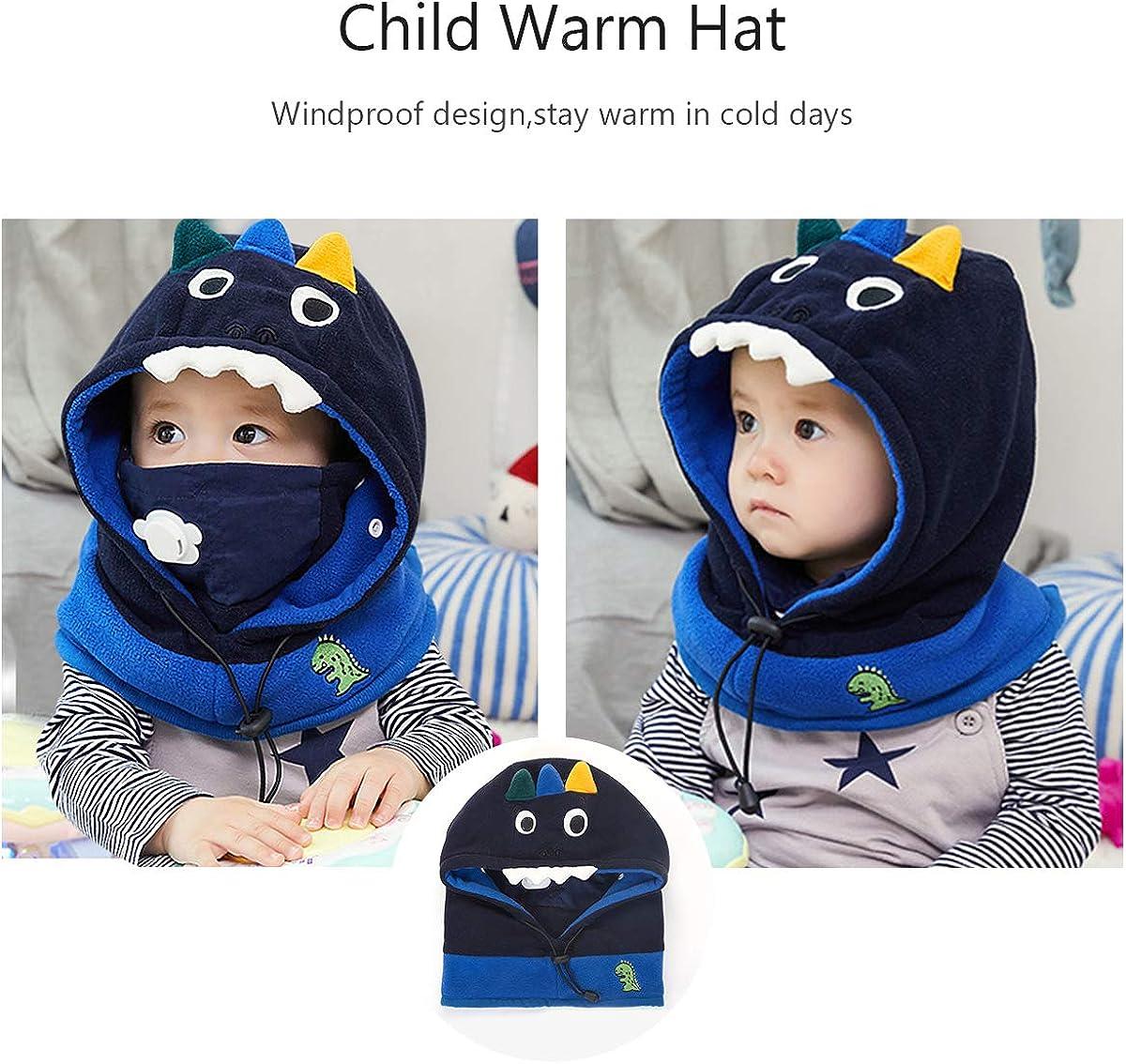 DORRISO Bambini Piccoli Protezione Collo Set Testa con Cappuccio Cute Little Animale Cartone Animato Cappelli Caldo Adatto per Bambini di 1-8 Anni