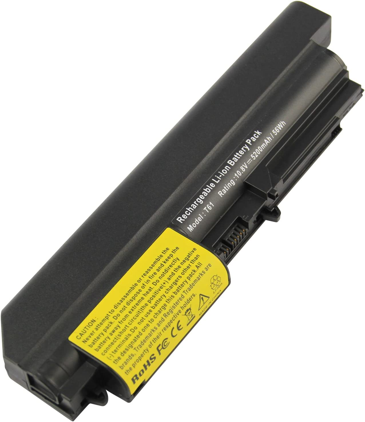 Futurebatt 42T5264 Laptop Battery for Lenovo IBM ThinkPad R400 T400 T61(Widescreen) R61 T61p R61i R61e 42T5265 42t5230 41U3196 41U3197 41U3198 42T4530 42T4531 42T4532 42T4552 42T4677 42T5225