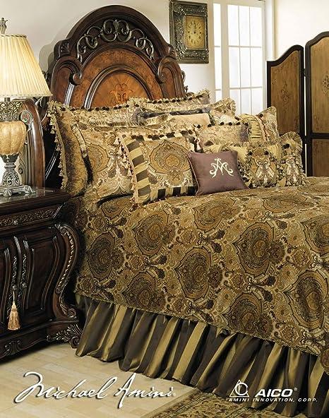 Amini Michael Pontevedra 13 pc King Comforter Set en Verde ...