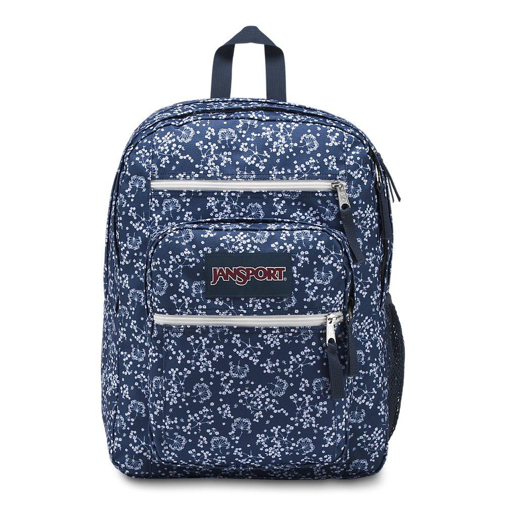 JanSport Unisex Big Student Oversized Backpack Navy Field Floral