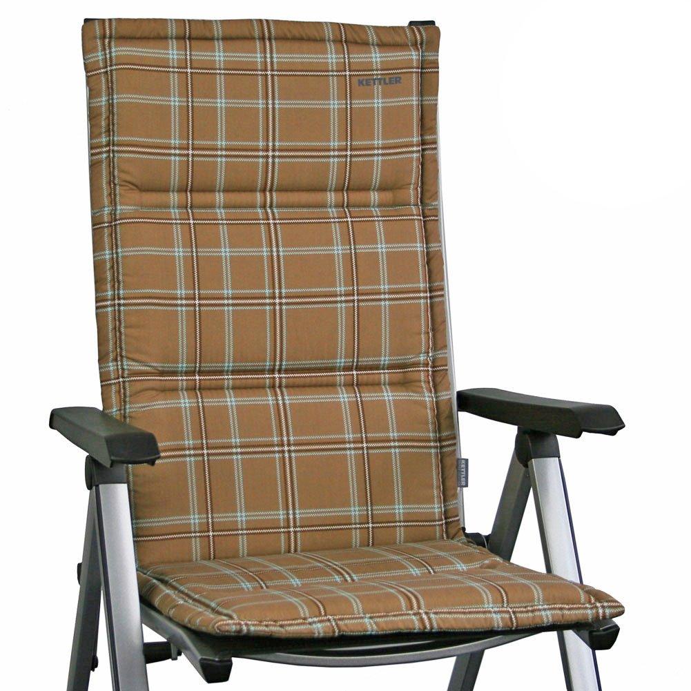 il più recente 4 KETTLER Dessin Dessin Dessin 764 Cuscini per mobili da giardino – sedia pieghevole in Marroneee a quadretti  Prezzo al piano