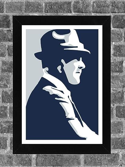 Dallas Cowboys Tom Landry Portrait Sports Print Art 11x17