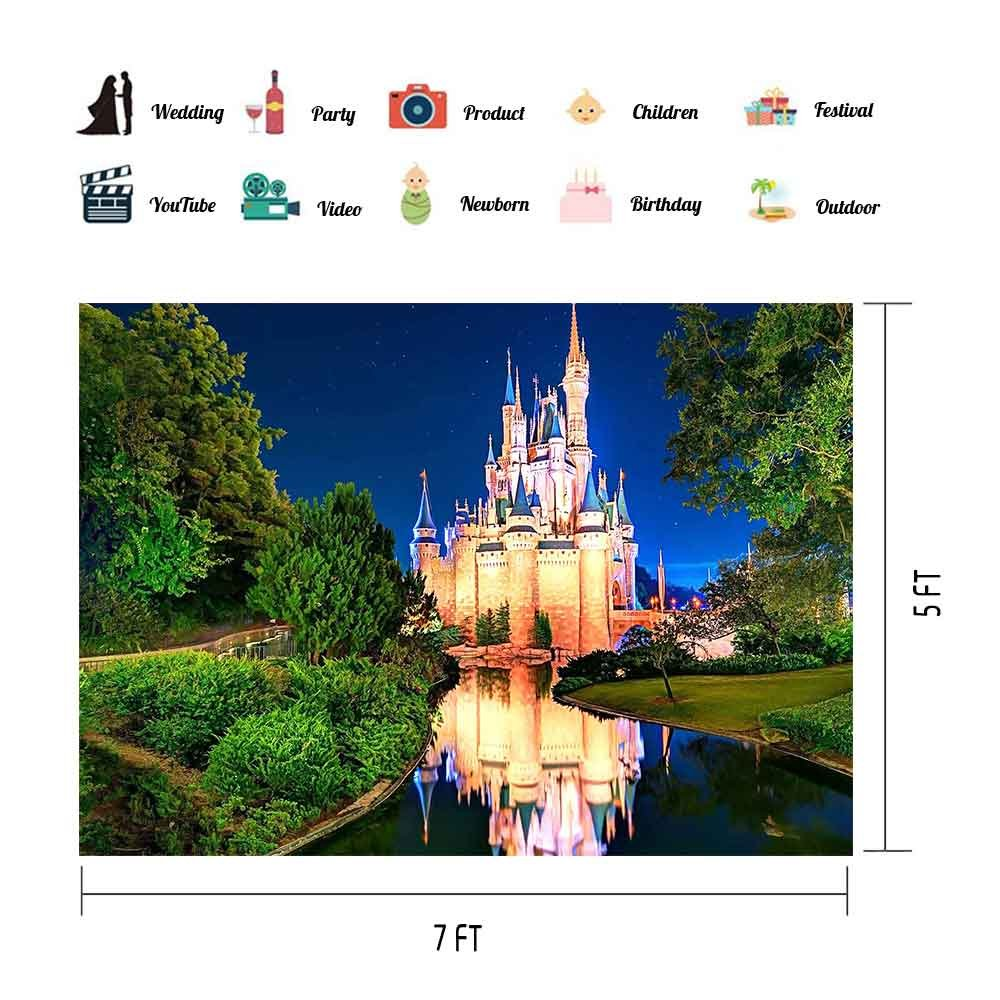 MEETS 7x5ft Disneyland Photography Backdrop Light Illuminates Building  River Green Plant Background Photo booth studio props theme party YouTube