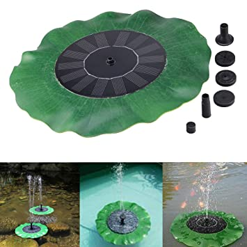 Solar Bomba de Agua Fuente, Ularma Flotador De Aves De Baño Solar Fuente De Energía Jardín Panel De Agua Piscina Kit Bomba: Amazon.es: Jardín