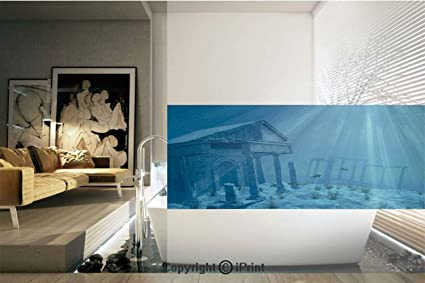 Amazon Decorative Privacy Window FilmSunlight Over Ruins Of A Mesmerizing Atlantis Bedroom Furniture Decor