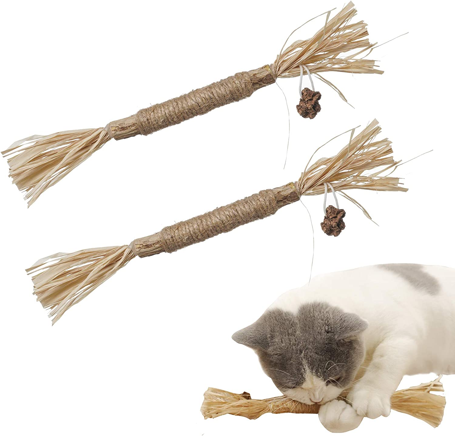 Paz's Gift Catnip Toys, Chew Sticks Cat Teeth Cleaning Chew Toy for, silvervine Sticks cat Cleaning Teeth, Make Your cat Feel Calm and Relaxed, cat chew Toy,Suitable for All Cats