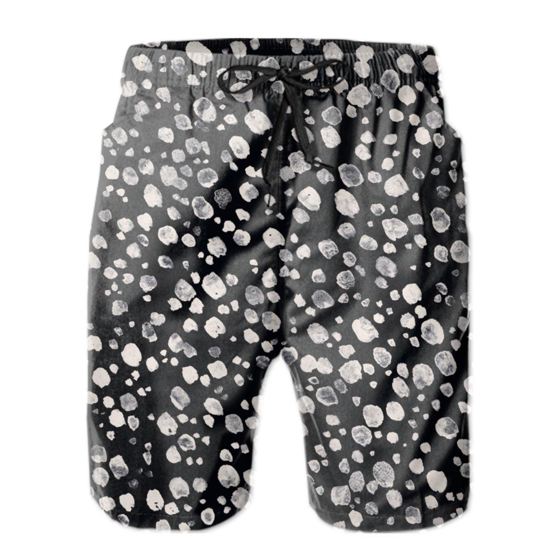 TRSL Black Mens Beachwear Quick Dry Beach Shorts Fashion Watershort