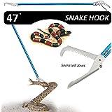 Fnova 47-inch Aluminum Alloy Professional Standard Snake Tong Reptile Grabber Rattle Snake Catcher Wide Jaw Handling…