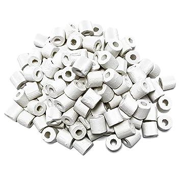 Takestop® 250 g Anillo anillas medios de cerámica para Acuario Dolce salato Marino Filtro Filtro: Amazon.es: Electrónica
