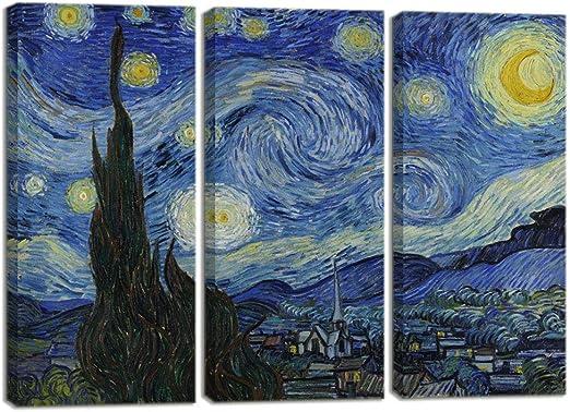 Van Gogh Starry Night 10 x 8 Inch Mounted Art Print