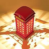 MECO Lampe de Table Style Vintage Cabine Téléphonique de Londres Vintage USB Charge LED Lampe Touch Sensor Table Bureau Veilleuse Pour Chambre Etudiants Dortoir Eclairage Bar Décoration Salon Décor