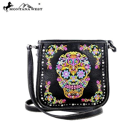 11b29e9c500d MW326-8287 Montana West Sugar Skull Collection Handbag