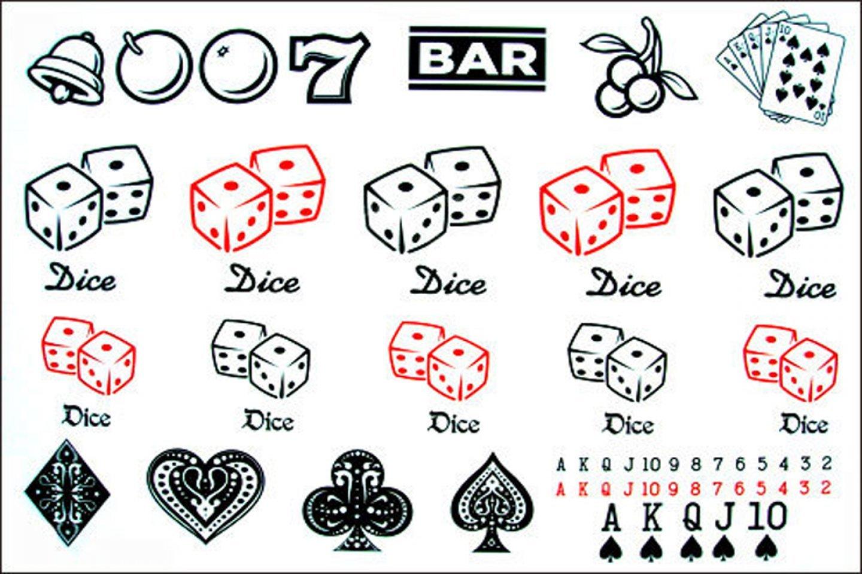 Los hombres y las mujeres de moda los tatuajes falsos casino poker ...