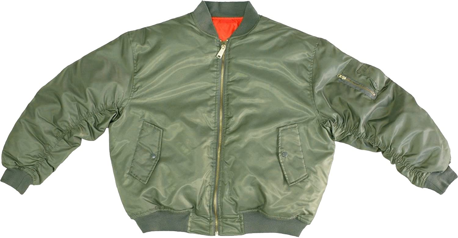 Amazon.com: Sage Green MA-1 Military Flight Jacket, Air Force ...