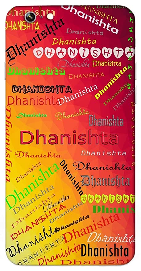 Dhanishta Name & Sign Printed All over customize: Amazon in: Electronics