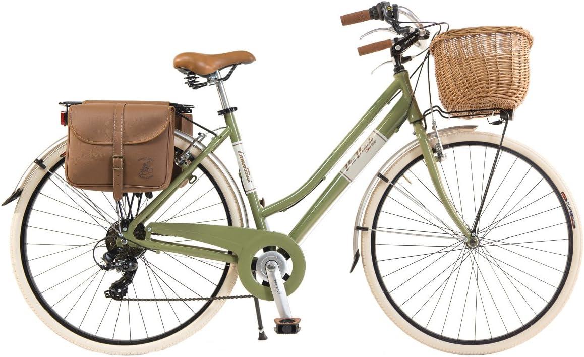 Via Veneto by canellini bici bicicleta Citybike byciclette CTB Mujer Dama Vintage Retro Via Veneto aluminio, color verde, tamaño 50: Amazon.es: Deportes y aire libre